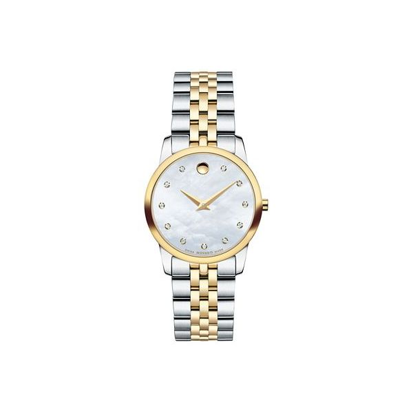 Movado Women's Swiss Museum Diamond Accent Two-Tone Stainless Steel Bracelet Watch 28mm  Robert Irwin Jewelers Memphis, TN
