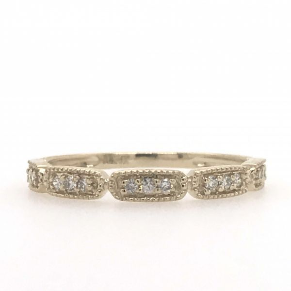 10k Yellow Gold 0.12ctw Diamond Stackable Band Robert Irwin Jewelers Memphis, TN