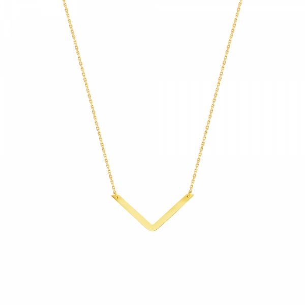 14k Yellow Gold DRAW THE LINE