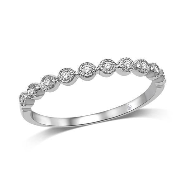 14K WHITE GOLD .14ctw DIAMOND STACKABLE BAND Robert Irwin Jewelers Memphis, TN