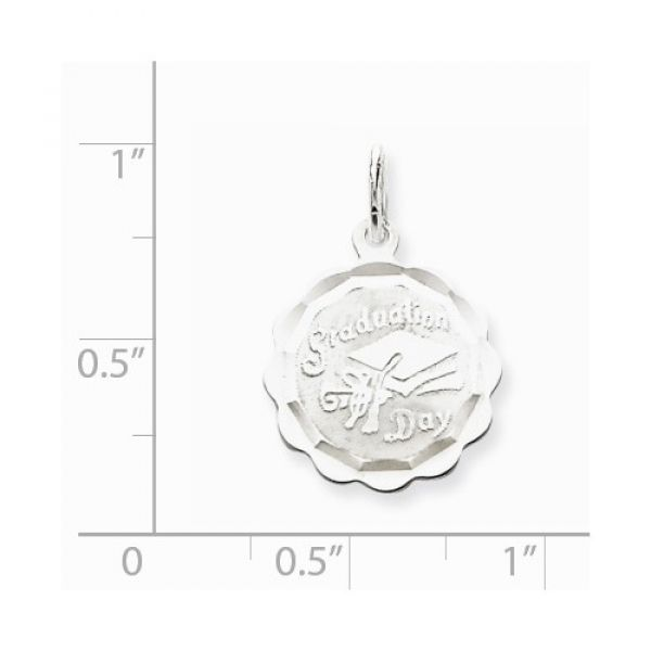Sterling Silver Graduation Day Disc Charm Image 2 Robert Irwin Jewelers Memphis, TN