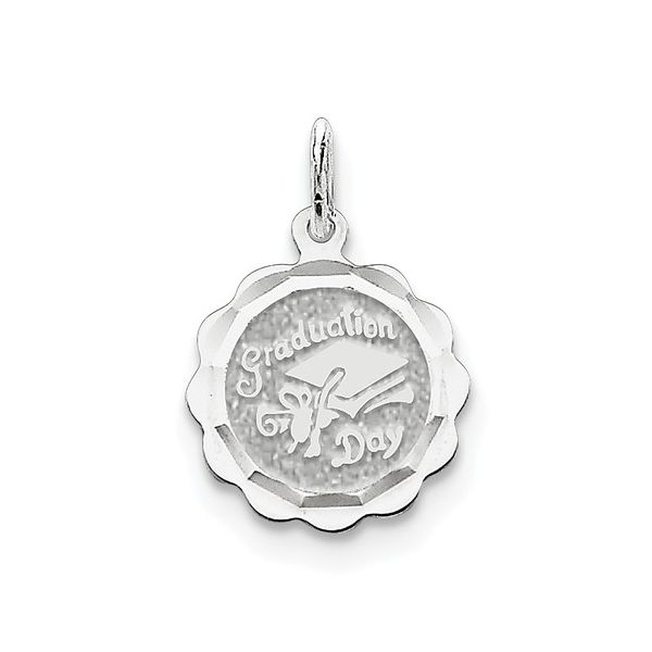 Sterling Silver Graduation Day Disc Charm Robert Irwin Jewelers Memphis, TN
