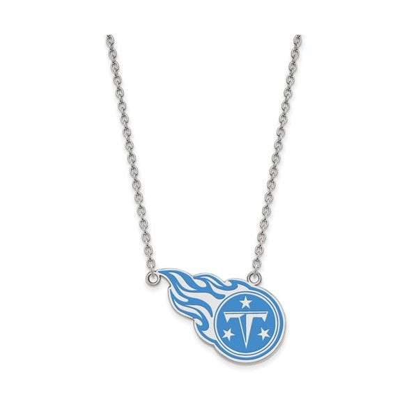 Sterling Silver Tennessee Titans Large Enamel Pendant With Necklace Robert Irwin Jewelers Memphis, TN