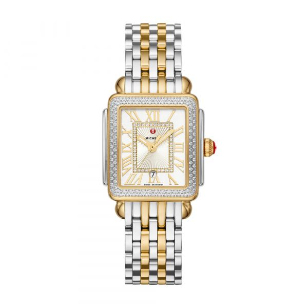 Michele Deco Madison Mid Two Tone Diamond Dial, 16mm Rolland's Jewelers Libertyville, IL