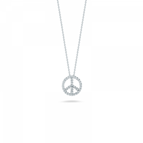 Roberto Coin Peace Sign Diamond Pendant Rolland's Jewelers Libertyville, IL