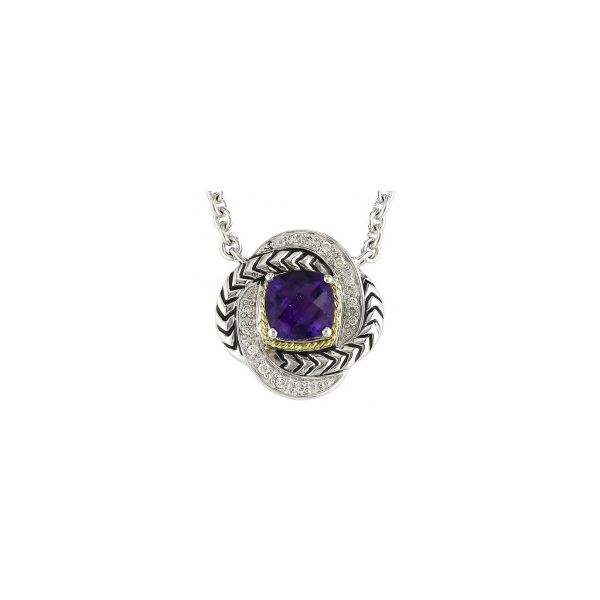 Andrea Candela Amethyst and Diamond Necklace Storey Jewelers Gonzales, TX