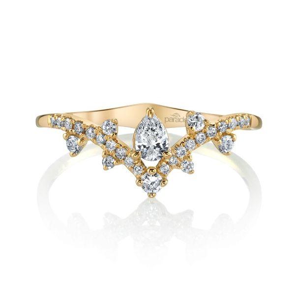 Beautiful 18K Yellow Gold Vintage,Inspired Diamond Ring