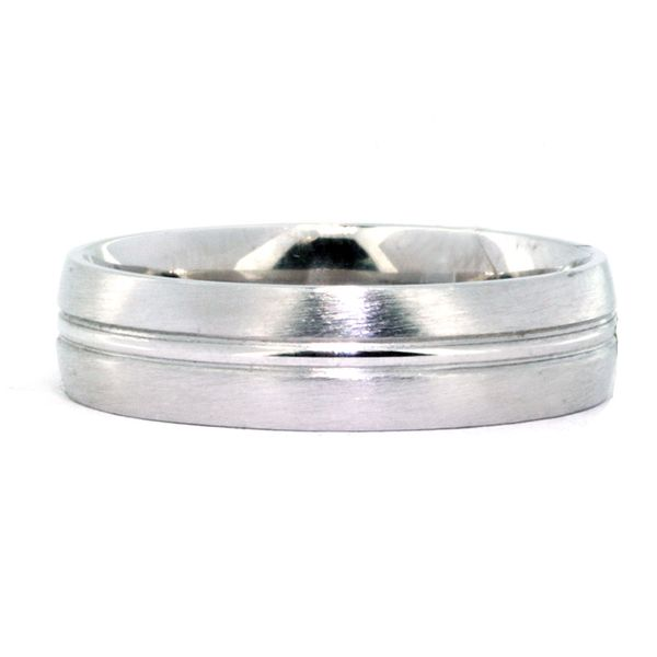 6mm Platinum Polish & Brushed Edge Band