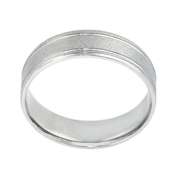 Plat 6mm Band Matte Design 2 Faceted Mirror Lines & 2 edges - image 2