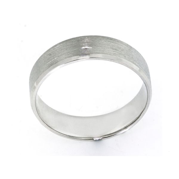 Plat 6mm Satin Finish Band w/ faceted mirror edge - image 2