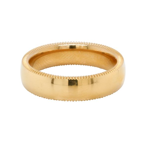 24KT Coin Edge Polished Band 6mm