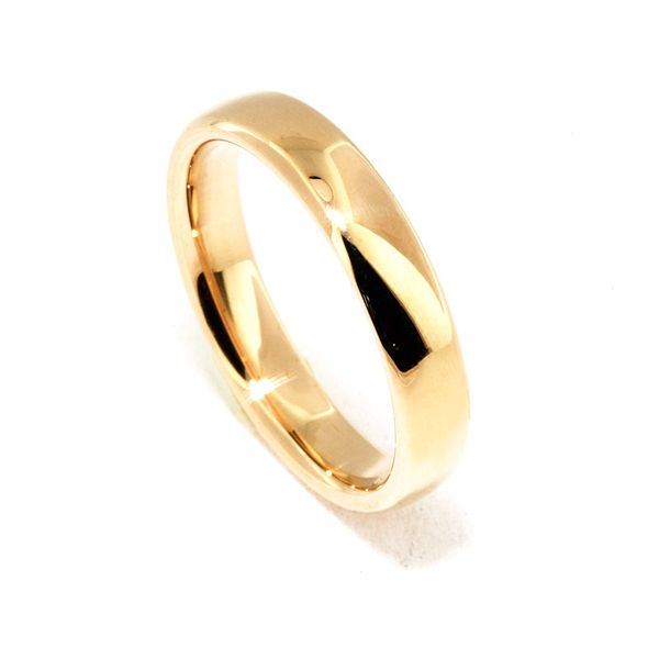 Euro 18KY 4.5mm Comfort-fit Wedding Band