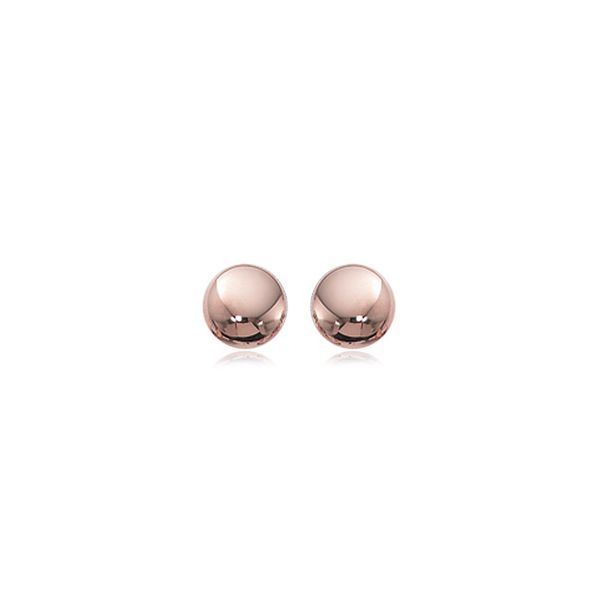 14KR 8mm Flat Ball Studs