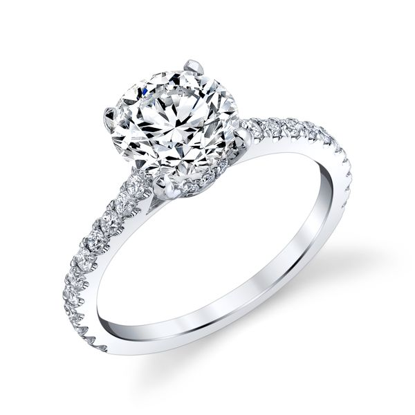 Platinum 900 Diamond Ring 34d=.39ct 4-prong