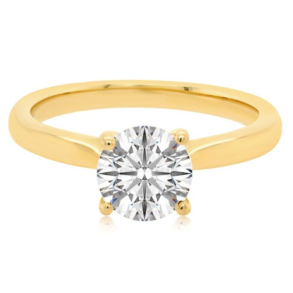 14kt Yellow Gold 4-Prong Ring Mtg for 1ct