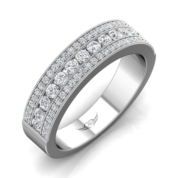 14K White Gold Wedding Band Image 5 Washington Diamond Falls Church, VA