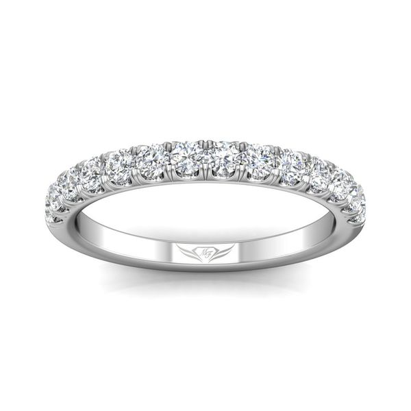 14K White Gold Wedding Band Image 3 Washington Diamond Falls Church, VA