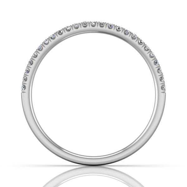 14K White Gold Wedding Band Image 2 Washington Diamond Falls Church, VA