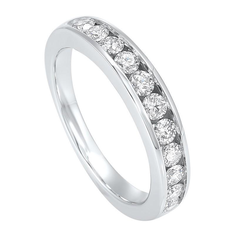 Channel Set Diamond Wedding Band In 14K White Gold (3/4 Ct. Tw.)