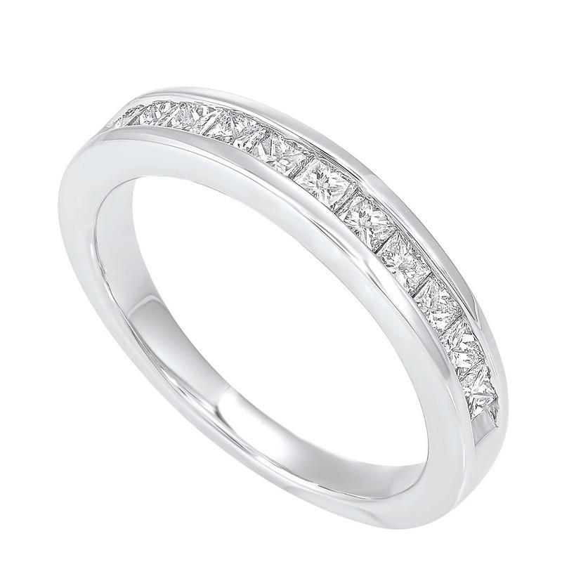 14K White Gold 11 Stone Channel Diamond Band (3/4 Ct. Tw.)