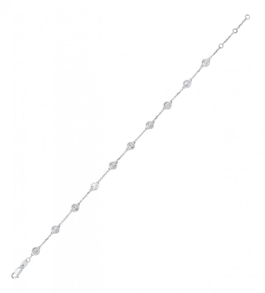 Diamonds By The Yard Bracelet In 14K White Gold (3/4 Ct. Tw.)