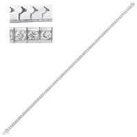 14K White Gold Diamond Channel Bracelet