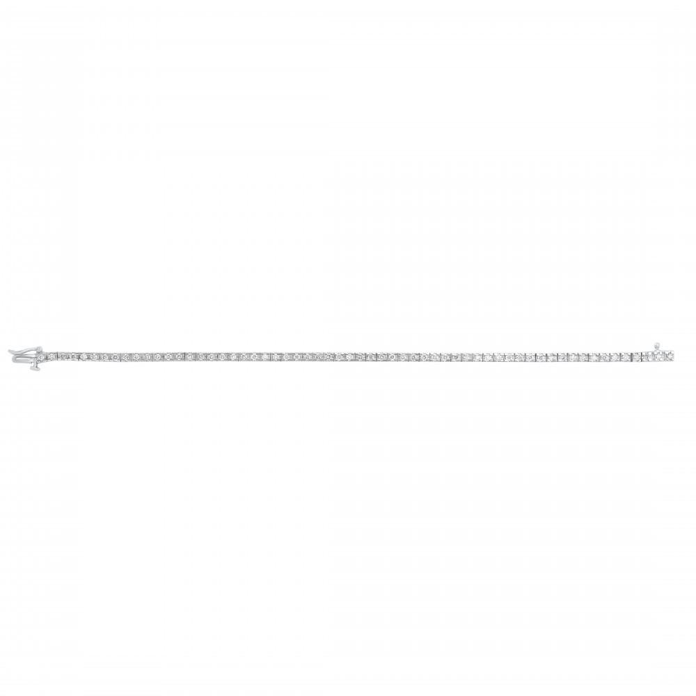Diamond Tennis Bracelet In 14K White Gold (3 Ct. Tw.)