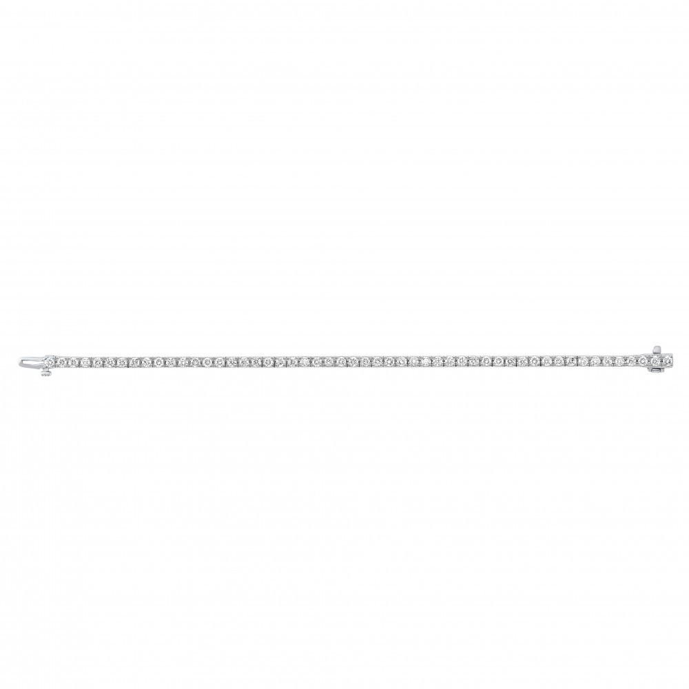 Diamond Tennis Bracelet In 14K White Gold (4 Ct. Tw.)