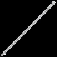 14K White Gold Prong Diamond Bracelet 10CT