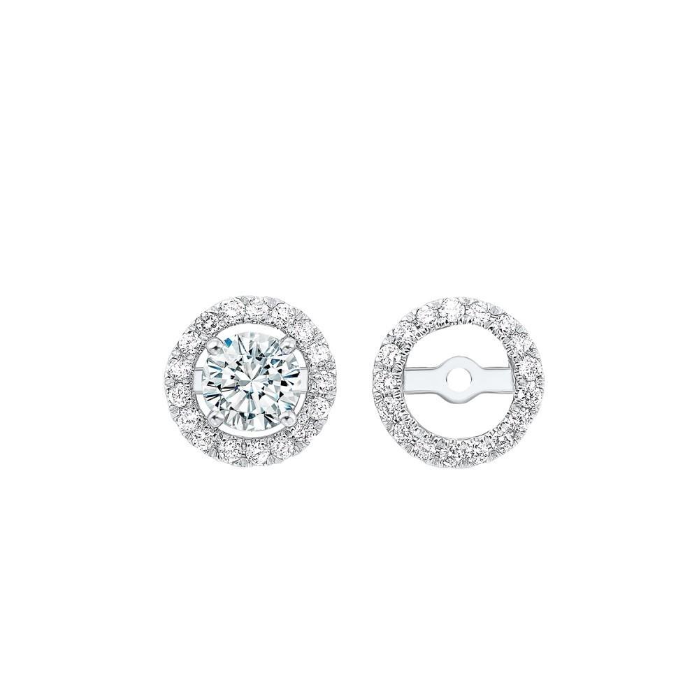 Diamond Earring Jackets In 14K White Gold (1/5 Ct. Tw.)