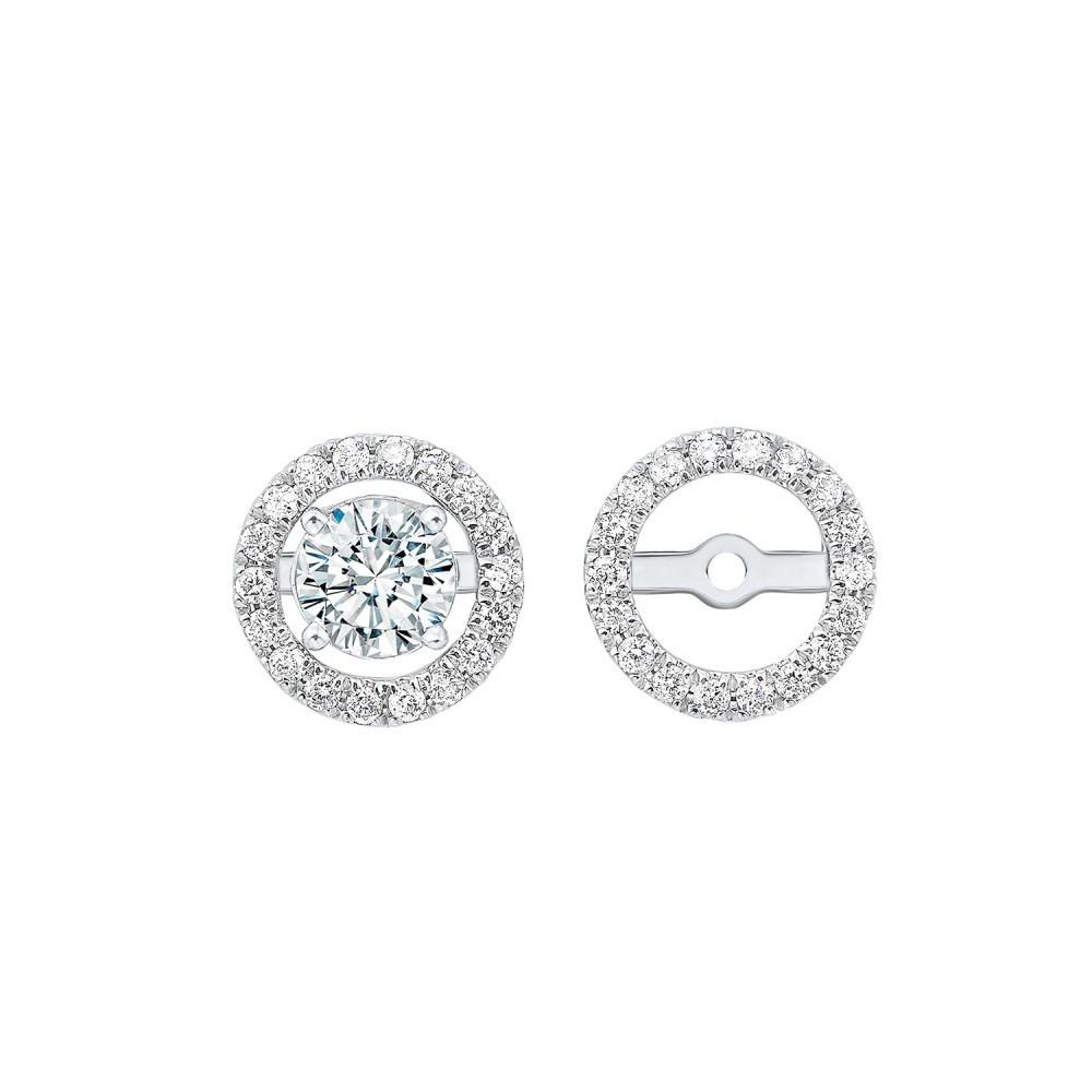 Diamond Earring Jackets In 14K White Gold (1/4 Ct. Tw.)