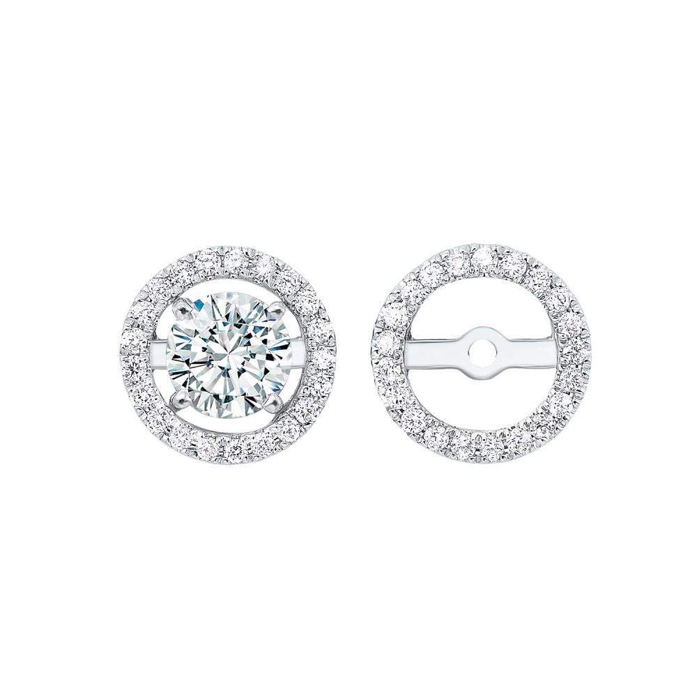Diamond Earring Jackets 14K White Gold (1/4 Ct. Tw.)