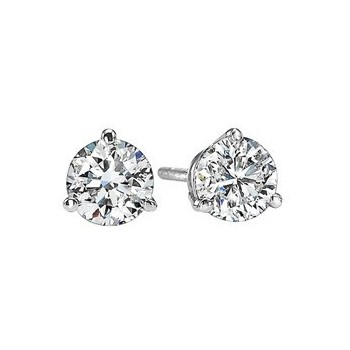 Diamond Stud Earrings In 18K White Gold (1/20 Ct. Tw.) SI2 - G/H