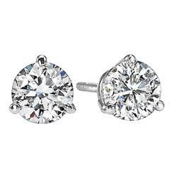Diamond Stud Earrings In 18K White Gold (1/20 Ct. Tw.) SI2 - G/H