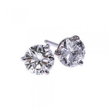 Diamond Stud Earrings In 18K White Gold (1/10 Ct. Tw.) SI2 - G/H