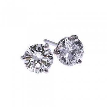 Diamond Stud Earrings In 18K White Gold (1/7 Ct. Tw.) SI2 - G/H