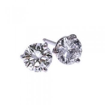 Diamond Stud Earrings In 18K White Gold (1/4 Ct. Tw.) SI2 - G/H