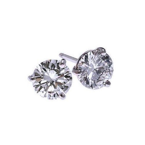 Diamond Stud Earrings In 18K White Gold (1/3 Ct. Tw.) SI2 - G/H