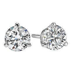 Diamond Stud Earrings In 18K White Gold (2/5 Ct. Tw.) SI2 - G/H