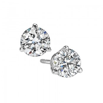 Diamond Stud Earrings In 18K White Gold (3/5 Ct. Tw.) SI2 - G/H