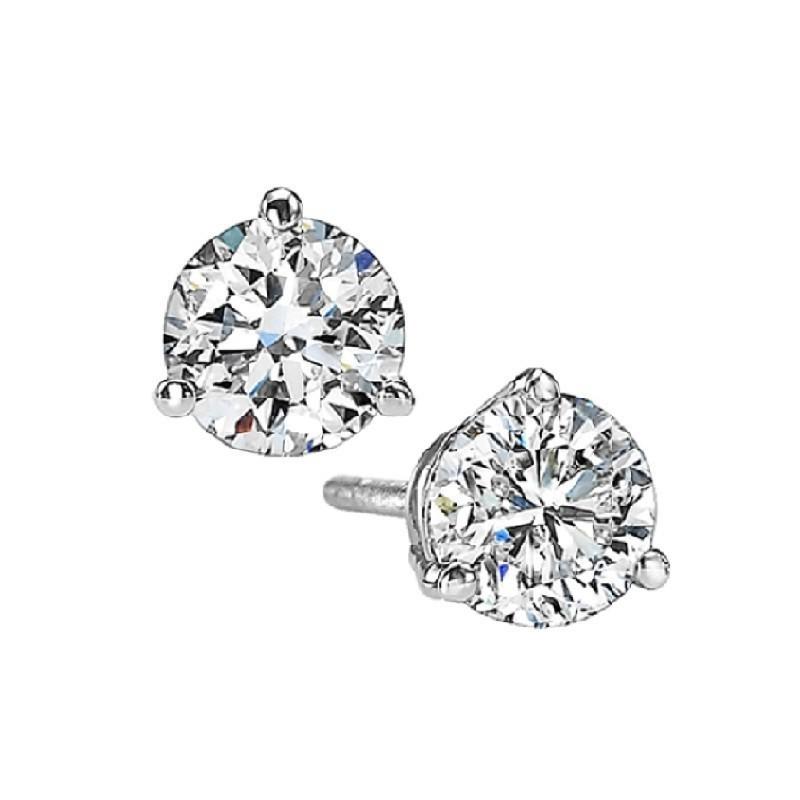 Diamond Stud Earrings In 18K White Gold (3/4 Ct. Tw.) SI2 - G/H