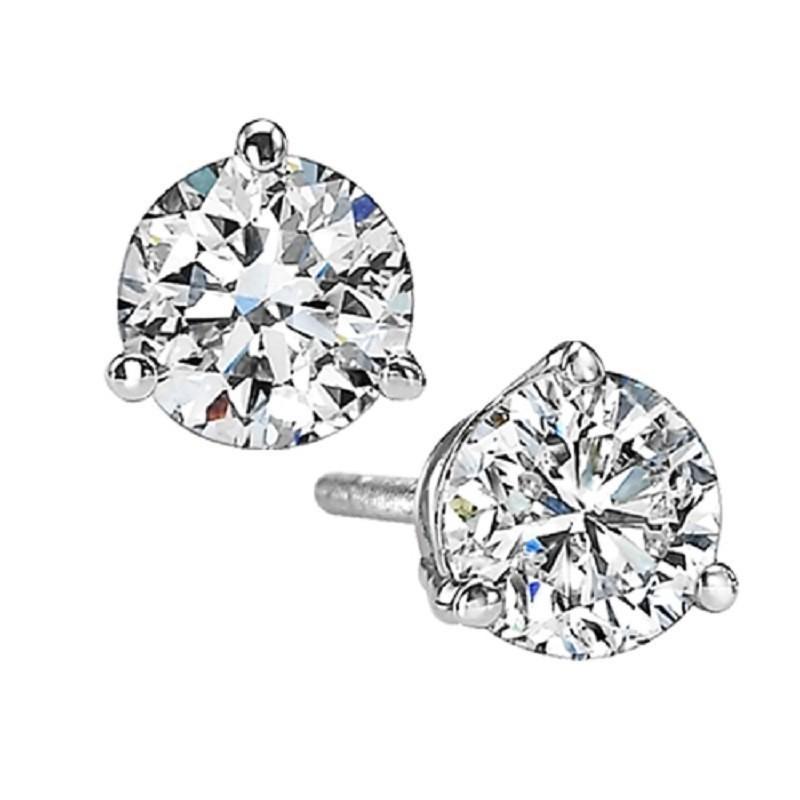 Diamond Stud Earrings In 18K White Gold (2 Ct. Tw.) SI2 - G/H
