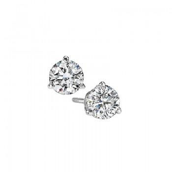 Martini Diamond Stud Earrings In 14K White Gold (1/10 Ct. Tw.) SI3 - G/H