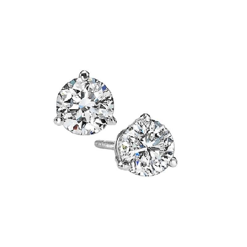 Martini Diamond Stud Earrings In 14K White Gold (1/5 Ct. Tw.) SI3 - G/H