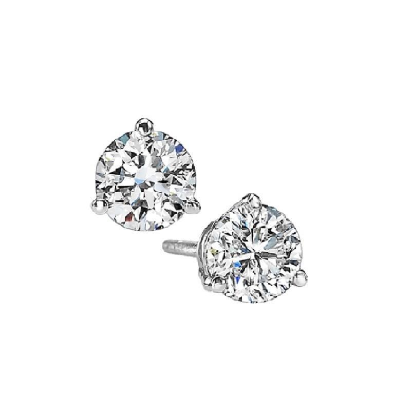 Martini Diamond Stud Earrings In 14K White Gold (1/4 Ct. Tw.) SI3 - G/H