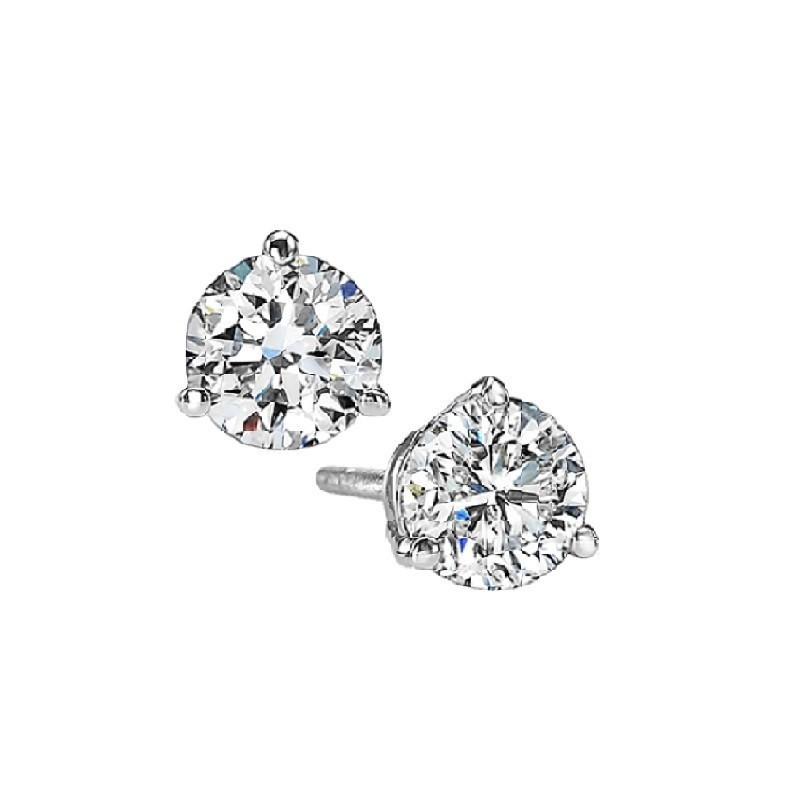 Martini Diamond Stud Earrings In 14K White Gold (1/3 Ct. Tw.) SI3 - G/H