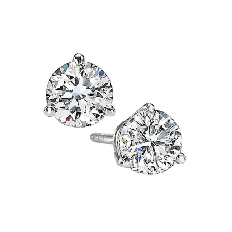 Martini Diamond Stud Earrings In 14K White Gold (5/8 Ct. Tw.) SI3 - G/H