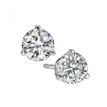 Martini Diamond Stud Earrings In 14K White Gold (3/4 Ct. Tw.) SI3 - G/H