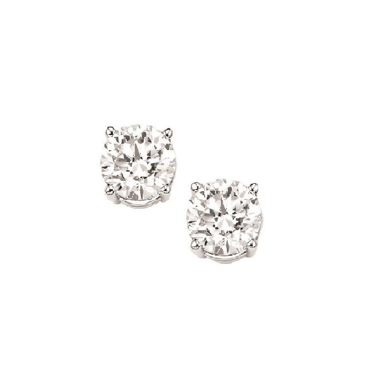 Diamond Stud Earrings In 18K White Gold (1/10 Ct. Tw.) I1 - G/H
