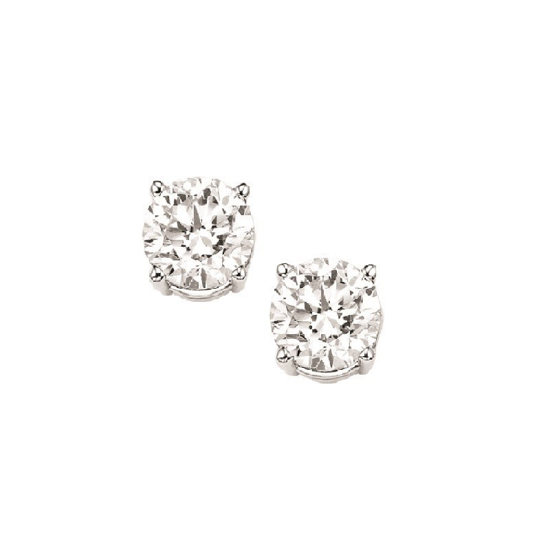 Diamond Stud Earrings In 18K White Gold (1/7 Ct. Tw.) I1 - G/H